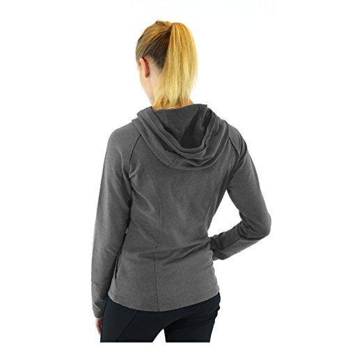 Alex+Abby Plus-Size Stretch Cotton Hoodie 2X-Large Dark Grey Heather