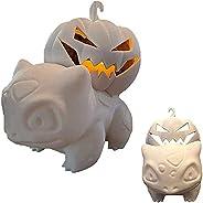 windekie Bulbasaur Jack-O-Lantern Tea Light Holder,Halloween Pumpkin Statues,Pumpkin Venusaur Monsters with Li
