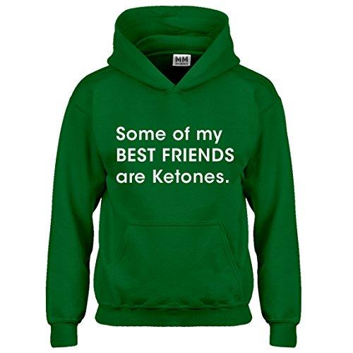 My Best Friends are Ketones Medium Kelly Green Hoodie ()
