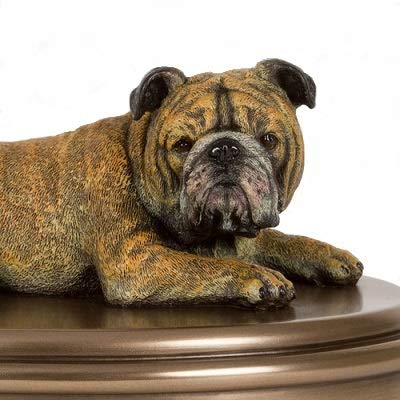 Perfect Memorials Custom Engraved English Bulldog Figurine Cremation Urn by Perfect Memorials (Image #2)
