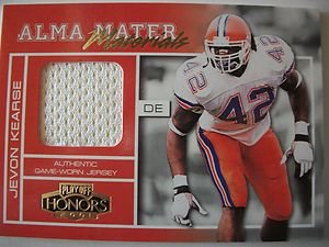 2001 Playoff Honors Alma Mater JEVON KEARSE Jersey Card !! BOX 29