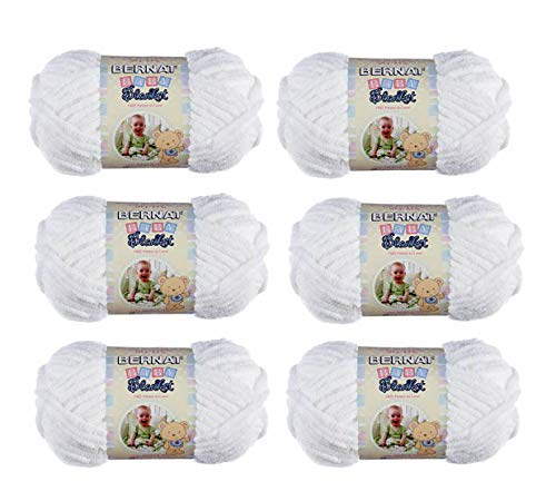 Buy spinrite baby blanket yarn white