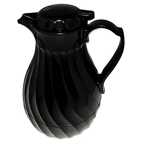 Hormel 4022B Poly Lined Carafe, Swirl Design, 40oz Capacity, Black