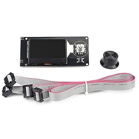 Iycorish Impresora 3D Pantalla LCD 12864 Pantalla Ramps 1.4 ...