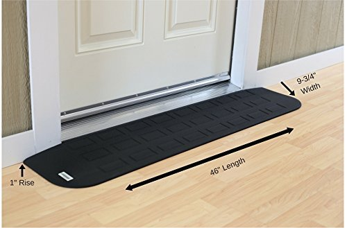 EZEdge Transition Threshold Ramp For a Door Sill, 1'' Rise, 1'' x 9¾'' x 46'' by EZEdge