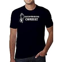 Cali Dreamers Men's Hand to Hand Combat Jesus Christian t-shirt black