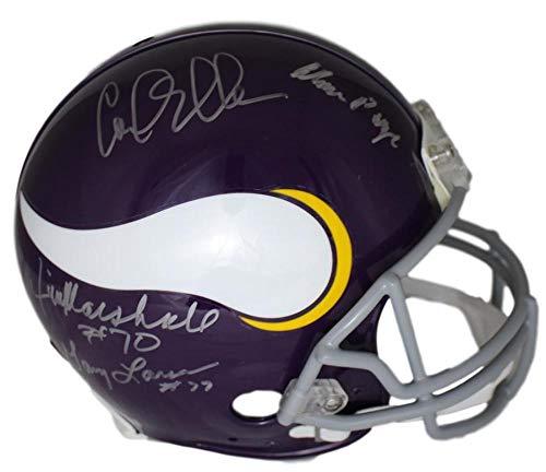 - Purple People Eaters Autographed Signed Minnesota Vikings Proline Helmet PPE - JSA Certified