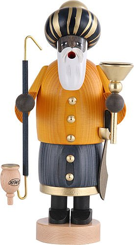 German Incense Smoker The 3 Wise Men - Melchior - 22 cm / 8 inch - Authentic German Erzgebirge Smokers - KWO by Authentic German Erzgebirge Handcraft