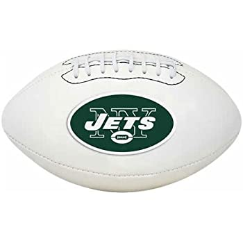 Rawlings Official NFL Signature Series Full Size Leather Football with Sharpie Autograph Pen, New York Jets