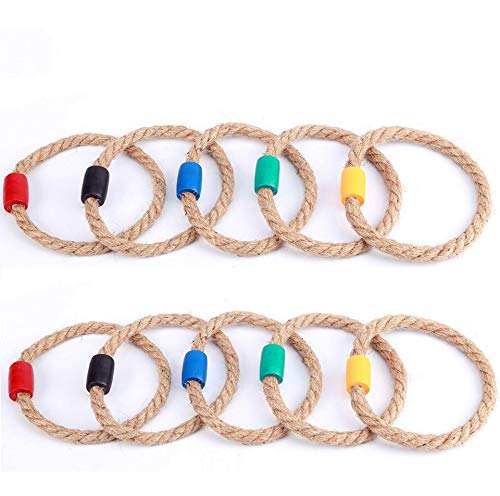 Goutoports 10 Multicolor Quoits Ropes Kids Ring Toss Game by Goutoports