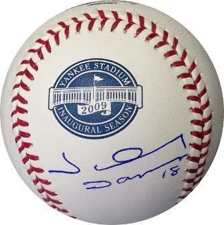 Damon Baseball Autographed Johnny (Johnny Damon Signed Baseball - 2009 Inaugural Season Yankee Stadium Logo Rawlings) - Autographed Baseballs)