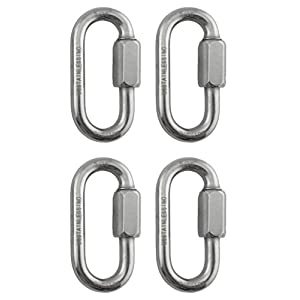"""4 Pieces Stainless Steel 316 Quick Link 5/16"""" (8mm) Marine Grade"""