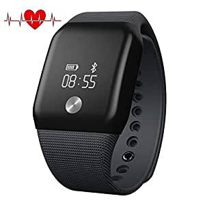 MOREFINE Bluetooth Pulsera Inteligente Deportivo 0.66 Fitness ...