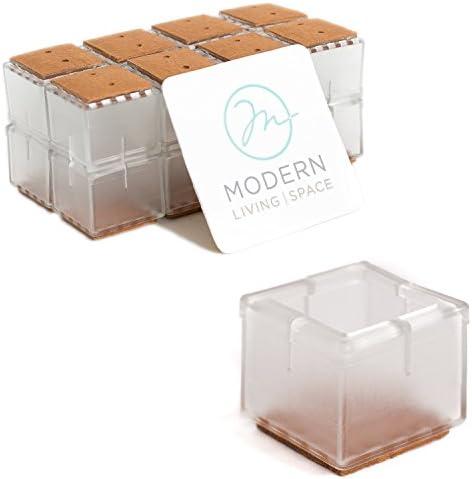 para patas de muebles y mesas Tapas de silicona para patas de silla protectores de suelo para evitar ara/ñazos y ruido para patas cuadradas redondas blanco BlueCosto 12 x 24 x 36 unidades