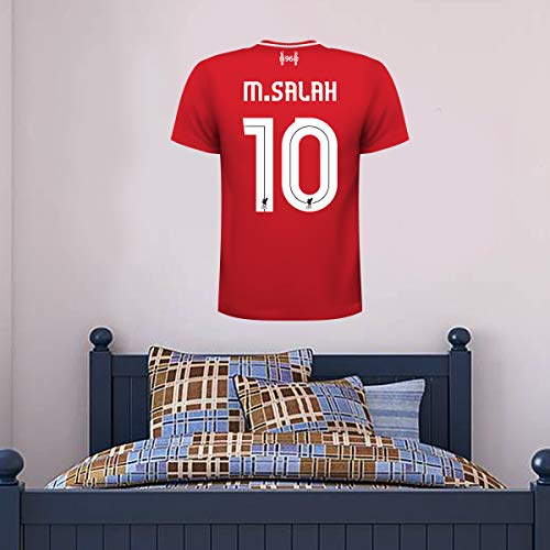 Official Liverpool Football Club - Personalised Shirt Wall Decal + LFC Crest Wall Sticker Vinyl Print (120cm -