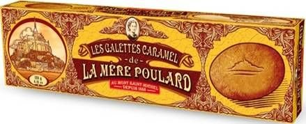 Galettes Caramel - Französisches Gebäck mit Butter, Karamell und gesalzener Butter aus der Normandie Mont St. Michel, La Mere Poulard 125g