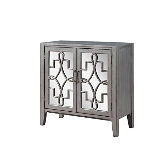 Scott Living Accent Cabinet with Mirrored Doors in (Contemporary Mirrored Cabinet)
