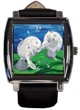 Manatee Watch - Wrist watch, comes with gift box - Save the Manatees, Read How - Sale