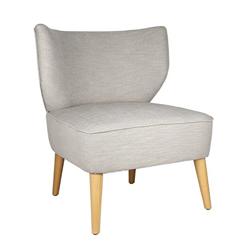 Joveco Fabric Leisure Chair with Curved Back Design