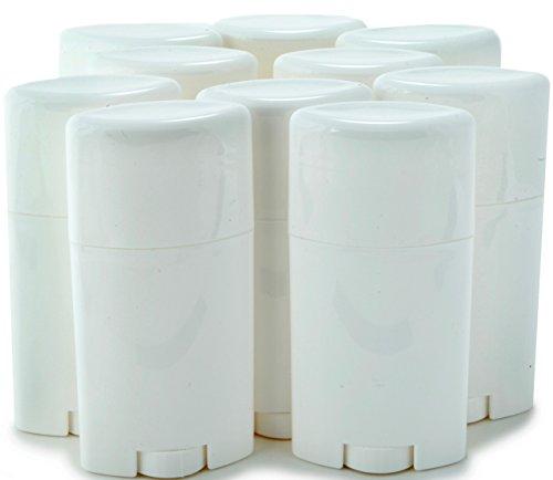 Vivaplex, 10, White, Empty, 2.5 oz Deodorant Containers with