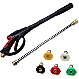 DUSICHIN DUS-422 High Pressure Power Washer Gun, 3600 PSI, 21 Inches Replacement Wand Lance