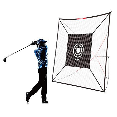 Net Playz Golf Practice Auto Return Net,10Ft x 10Ft, Quick Set-up, Multi-Angle Adjustment, Golf rebound net, Outdoor Training net,Target Panel included