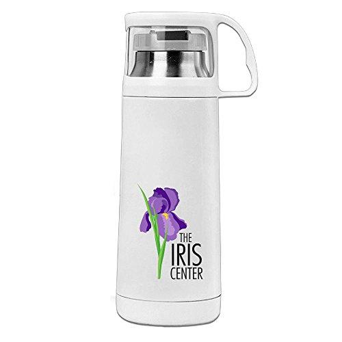 Karen Garden Beautiful Iris Stainless Steel Vacuum Insulated Water Bottle Leak Proof Handled Mug (Moss Mouse)