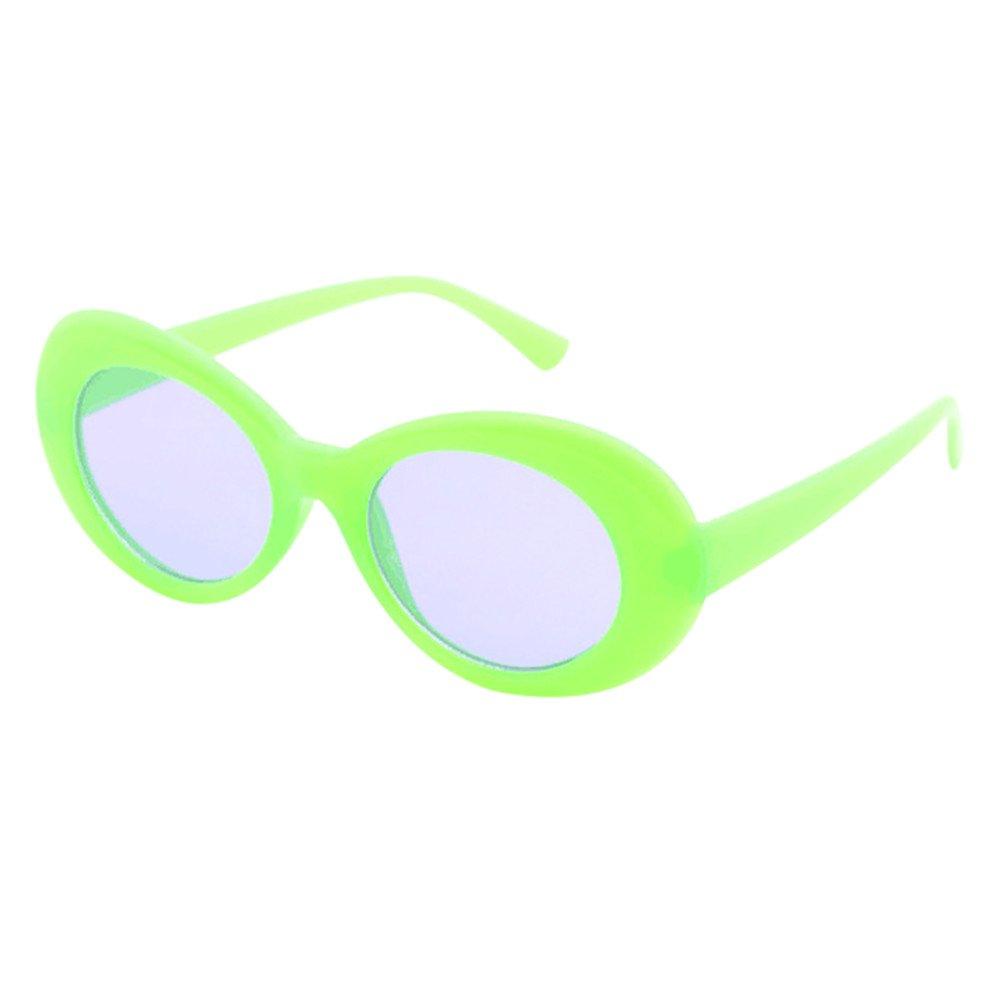 HGWXX7 Value Retro Oval Sunglasses Street Fashion Thick Frame Sun Glasses UV400