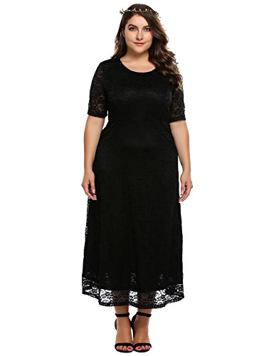 black bridesmaid dress with short sleeves - 8