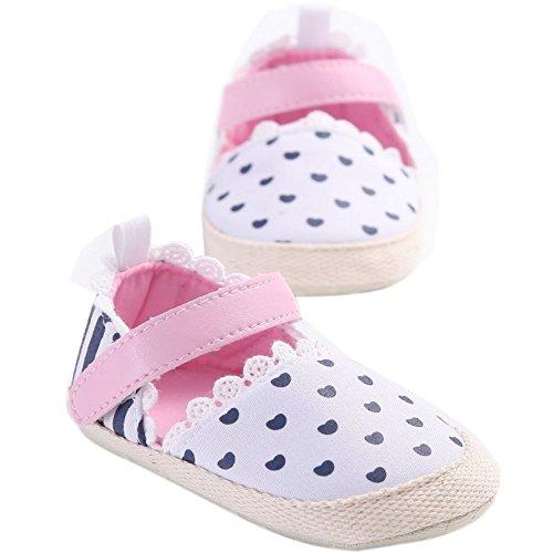 etrack-online recién nacido Niñas rayas Prewalker suave parte inferior zapatos de zapatillas B Model Talla:12-18months B Model