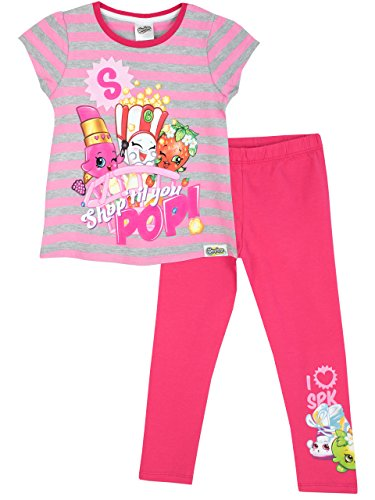 Shopkins Girls Short Sleeve T-Shirt & Leggings Set, Pink, 6