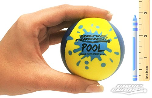 Wave Runner Pool Ball 2-Tone Water Skipping Ball Kids Size Water Bouncing Fun Play on Pool Pond Lakes Wholesale Bulk Summer Fun Toy (Blue (Wholesale Bouncing Balls)