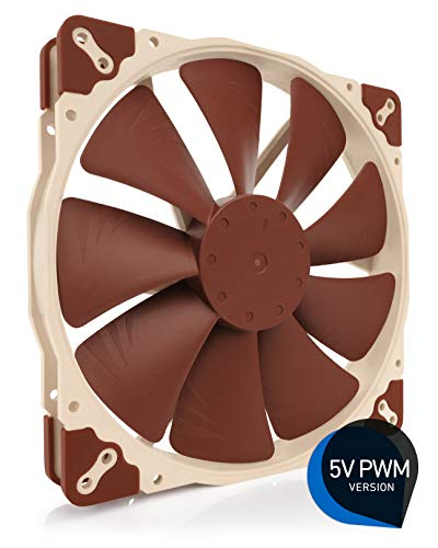 - Noctua NF-A20 5V PWM, Premium Quiet Fan with USB Power Adaptor Cable, 4-Pin, 5V Version (200x30mm, Brown)