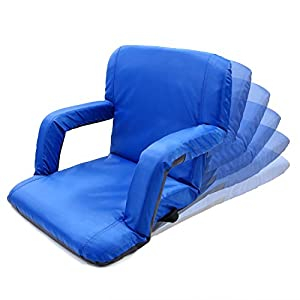 Portable Stadium Seat Chair, Sportneer Reclining Seat for Bleachers with Padded Cushion Shoulder Straps