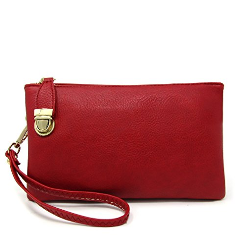 Bag Multi Bag Womens Compartment Shoulder Crossbody Functional Solene Red q0wXH5