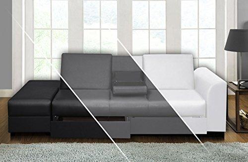Sofa CAIRO Schlafsofa Klappsofa Kunstleder Couch Schlafcouch Klappcouch Garnitur (Anthrazit)