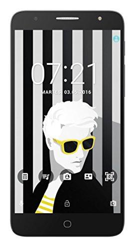Alcatel Pop 4+ Smartphone (14 cm (5,5 Zoll), Android, 8 Megapixel Hauptkamer, 16 GB Speicher, 32 GB SD-Karten-Slot, Dual-SIM) metal silber