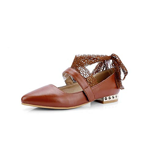 Women's Lsm Flat Heels Pointed Mouth Shoes Casual Shallow Toe 5H4r5x