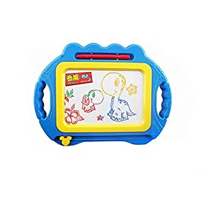 FINERINE Educational Kids Doodle Toy Erasable Magnetic Drawing Board + Pen Gift New (Blue)