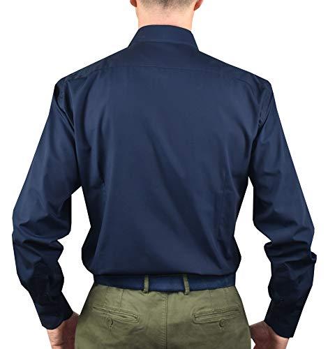 1stamerican Cassique Chemise Pour Haute Classique Qualité Coton 100 Navy Regular Divers Business Homme Col À Motifs Fit rrxqwYOd