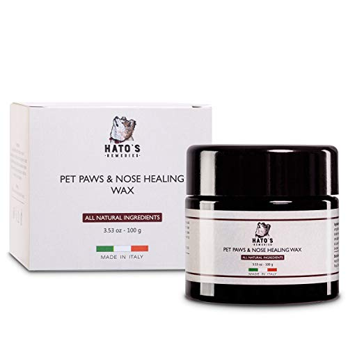 Hato's Remedies Pet Paw Protection Wax (3.50 oz.) Moisture, Hydrate, and Repair Dry, Damaged, or Cracked Skin | Relieve Irritation, Restore Softness | Made in Italy