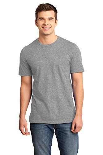 District Young Mens Very Important Tee. DT6000 (Grey Frost, L) from District