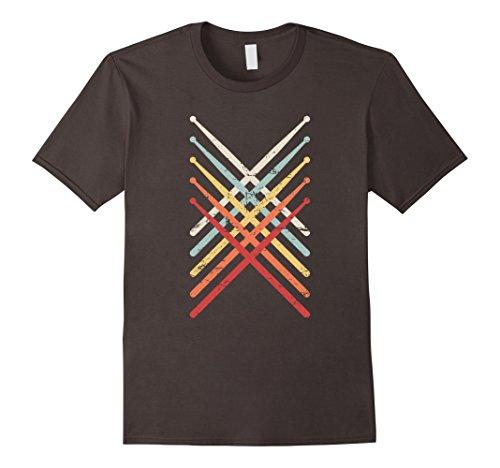 Mens Retro Vintage Drummer T-Shirt Small ()