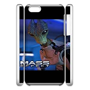 Unique Design Cases iphone5c 3D Cell Phone Case White Mass Effect Gqwqo Printed Cover Protector