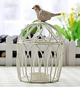 Berry President® Handmade Metal Candleholder Antique Vintage Home Decorative Birdcage Candle Holder Centerpiece for Wedding or Valentine's Day (Berry Candle Holder)