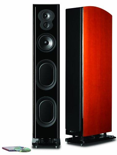 Polk Audio LSiM 707 Ultimate Floorstanding Loudspeaker | Dynamic Balance  PowerPort Technology | Bi-Wire  Bi-Amp | Single, Mount Vernon Cherry