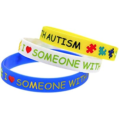 Set Love Someone with Autism Wristbands Bracelet Wristband Autism Awareness Support Estimated Price £3.49 -