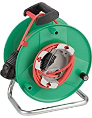 Brennenstuhl 1098550001 Garant G IP44 Kabelhaspel (Buiten Kabelhaspel voor de tuin met 23+2m kabel in rood, speciale kunststof, korte termijn buitengebruik, Made in Germany), groen