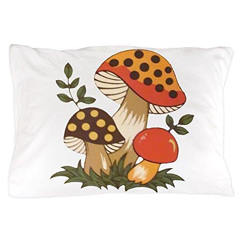 CafePress Merry Mushroom Standard Size Pillow Case, 20