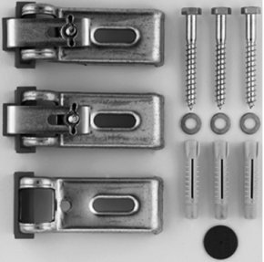 Duravit DU7901030000 Three Piece Tub Brackets for Mounting and Support for Bathtubs